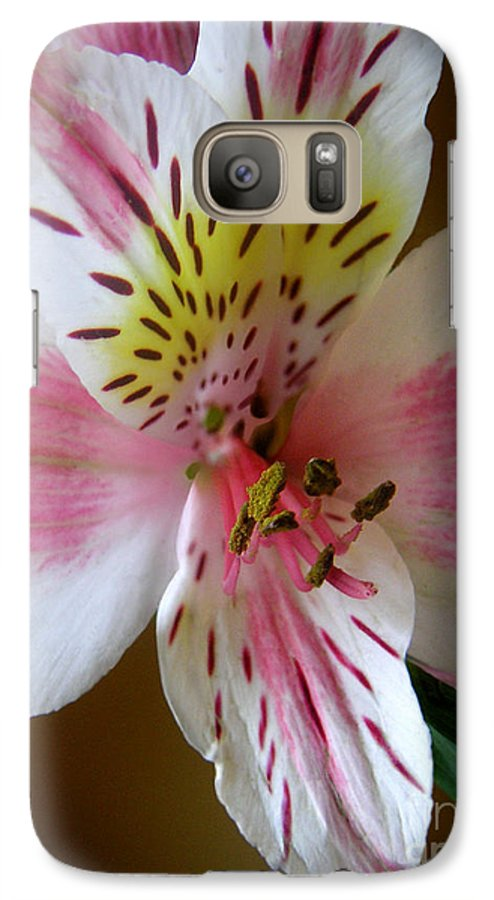 Nature Galaxy S7 Case featuring the photograph Alstroemerias - Close by Lucyna A M Green