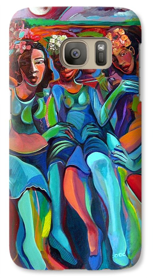 Women Galaxy S7 Case featuring the painting Always by Joyce Owens