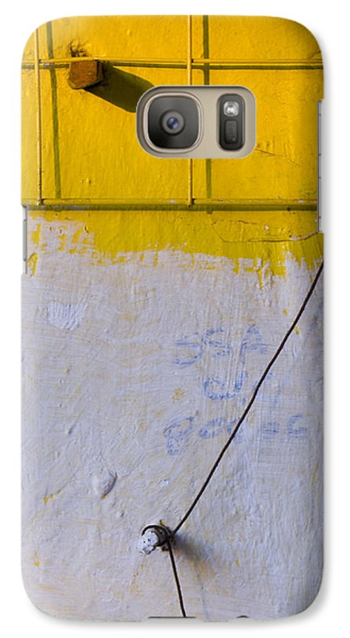 Abstract Galaxy S7 Case featuring the photograph Amarillo by Skip Hunt