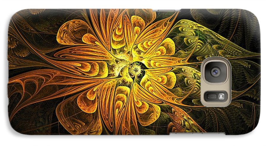 Digital Art Galaxy S7 Case featuring the digital art Amber Light by Amanda Moore