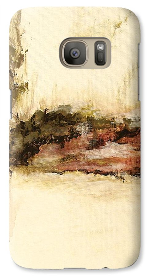 Abstract Galaxy S7 Case featuring the painting Ambiguous by Itaya Lightbourne