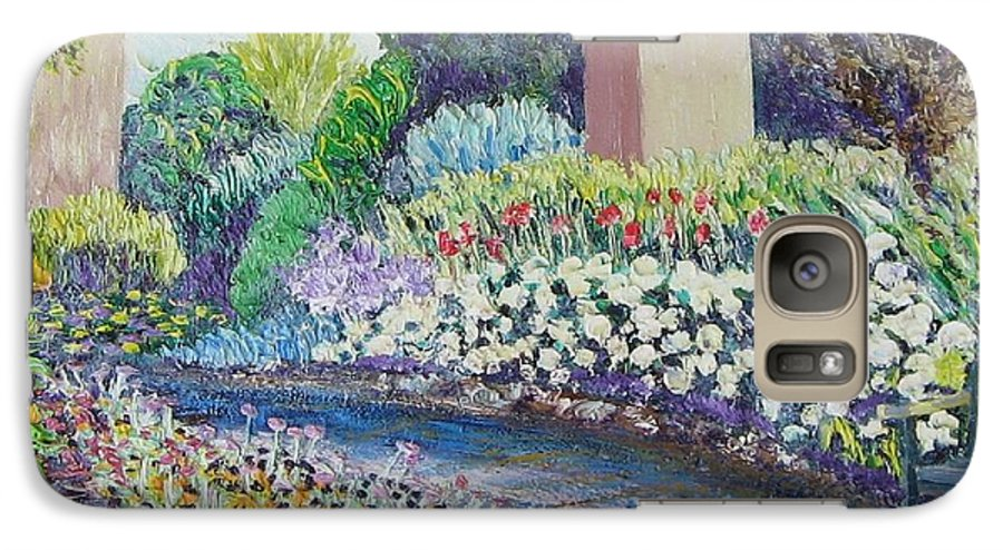 Flowers Galaxy S7 Case featuring the painting Amelia Park Pathway by Richard Nowak