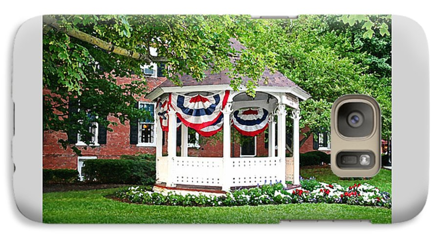 Gazebo Galaxy S7 Case featuring the photograph American Gazebo by Margie Wildblood