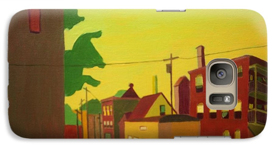 Jamaica Plain Galaxy S7 Case featuring the painting Amory Street Jamaica Plain by Debra Bretton Robinson