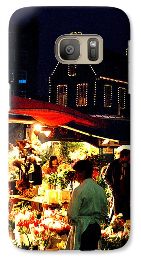 Flowers Galaxy S7 Case featuring the photograph Amsterdam Flower Market by Nancy Mueller