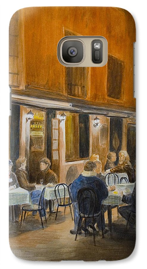 Venice Galaxy S7 Case featuring the painting An Autumn by Nik Helbig