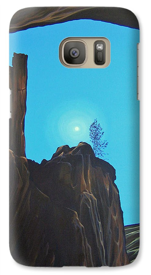 New Mexico Galaxy S7 Case featuring the painting Anasazi Dreams by Hunter Jay