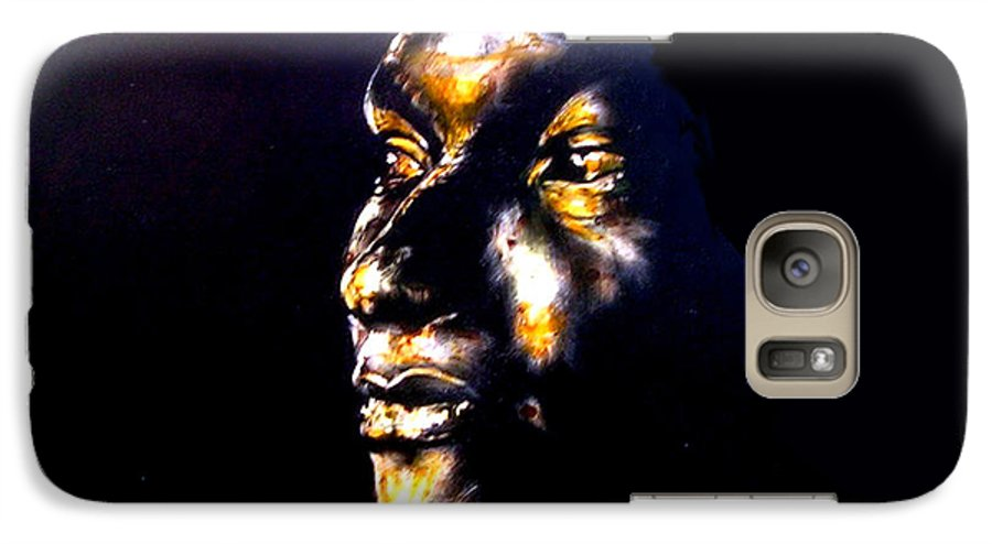 Galaxy S7 Case featuring the mixed media And Then Our Eyes Met by Chester Elmore