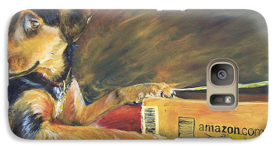 Dog Galaxy S7 Case featuring the painting And Youre Done by Nik Helbig