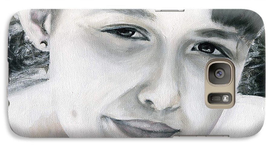 Portrait Galaxy S7 Case featuring the painting Ane by Fiona Jack