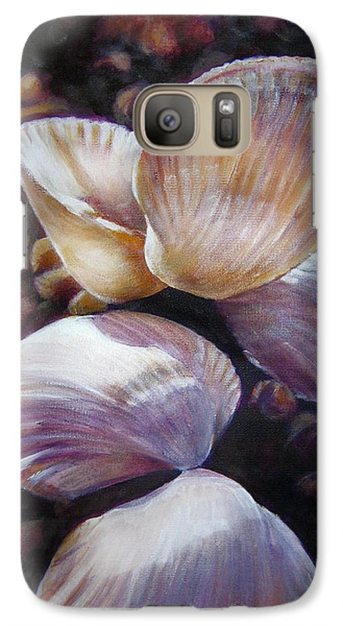 Painting Galaxy S7 Case featuring the painting Ane's Shells by Fiona Jack