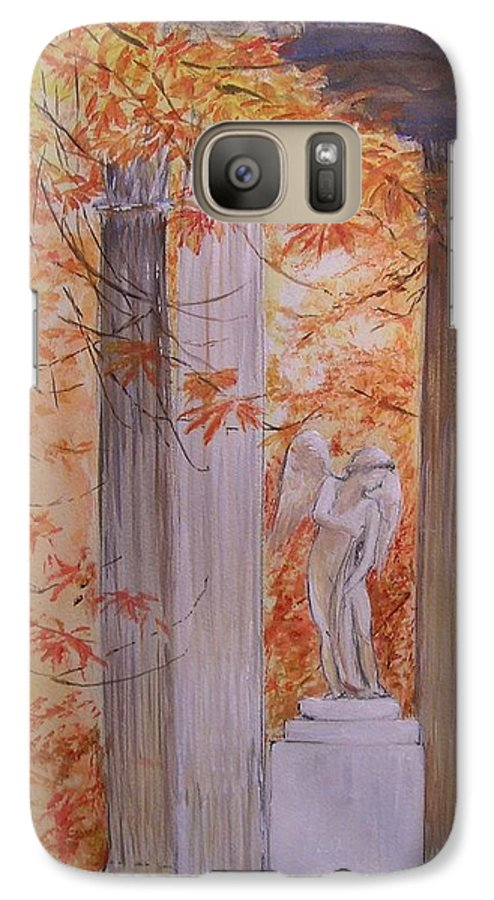 Angel Galaxy S7 Case featuring the painting Ange Petit Trianon Versailles by Lizzy Forrester