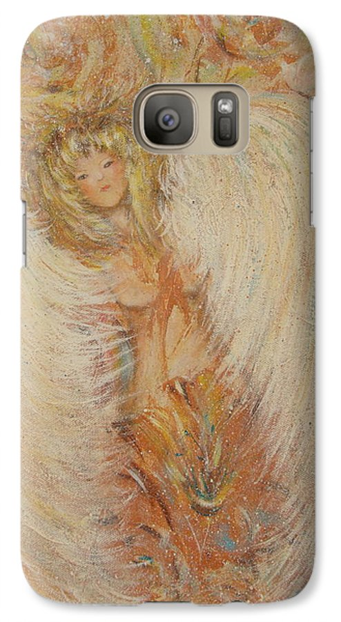 Angel Galaxy S7 Case featuring the painting Angel Loves You by Natalie Holland