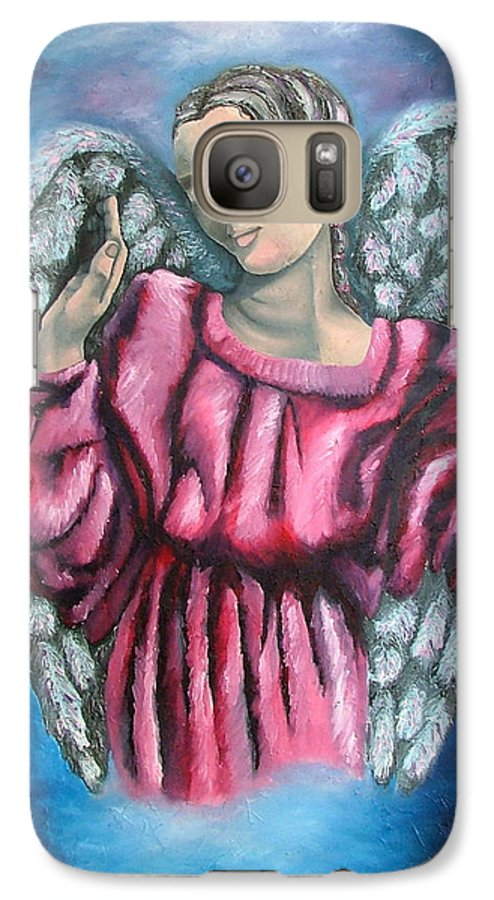 Angel Galaxy S7 Case featuring the painting Angel Of Hope by Elizabeth Lisy Figueroa