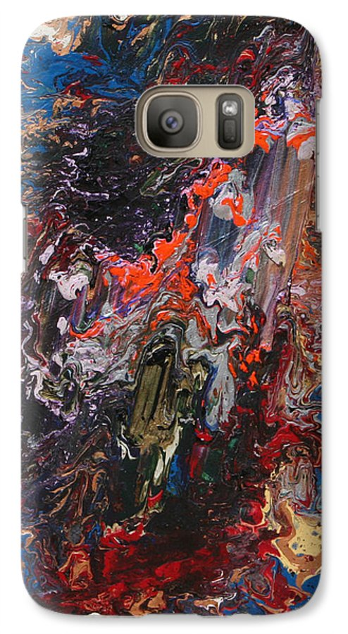 Fusionart Galaxy S7 Case featuring the painting Angel Rising by Ralph White