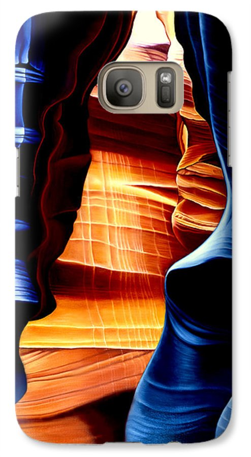 Landscape Galaxy S7 Case featuring the painting Antelope Canyon by Anni Adkins