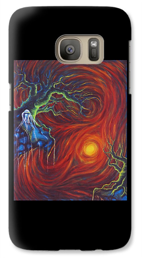 Tree Paintings Galaxy S7 Case featuring the painting Anxiety by Jennifer McDuffie