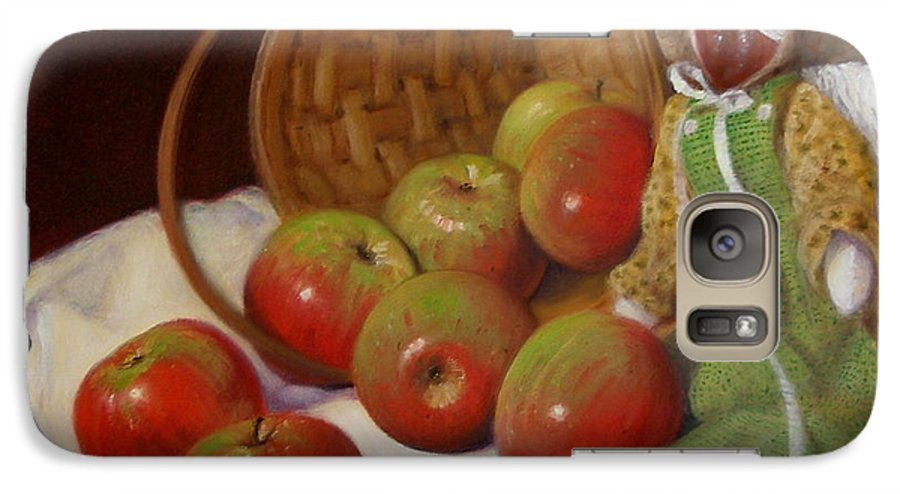 Realism Galaxy S7 Case featuring the painting Apple Annie by Donelli DiMaria