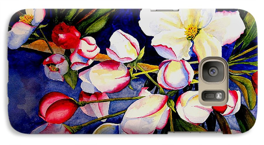 Apple Blossoms Galaxy S7 Case featuring the painting Apple Blossom Time by Karen Stark