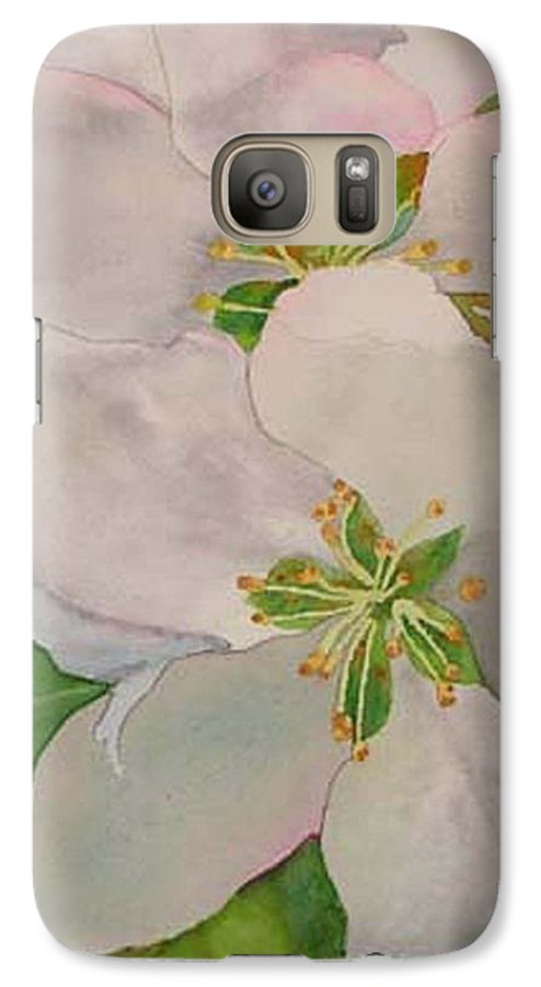 Apple Blossoms Galaxy S7 Case featuring the painting Apple Blossoms by Sharon E Allen