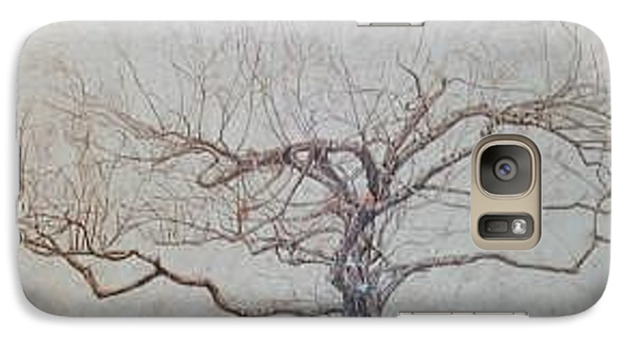 Apple Tree Galaxy S7 Case featuring the painting Apple Tree In Winter by Leah Tomaino
