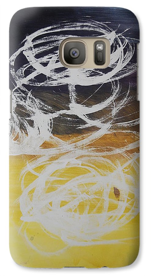 Learning Galaxy S7 Case featuring the painting Aprendiendo by Lauren Luna