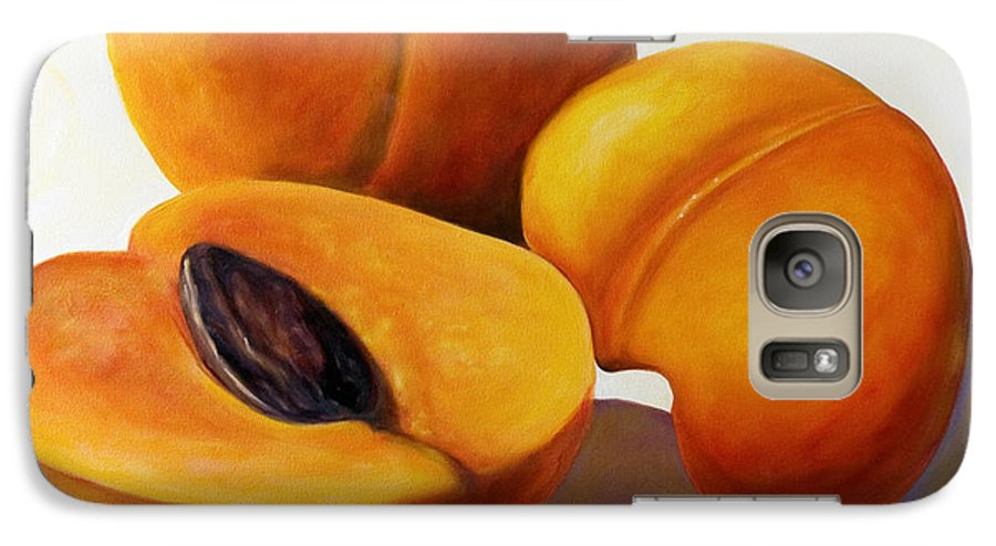 Apricots Galaxy S7 Case featuring the painting Apricots by Shannon Grissom