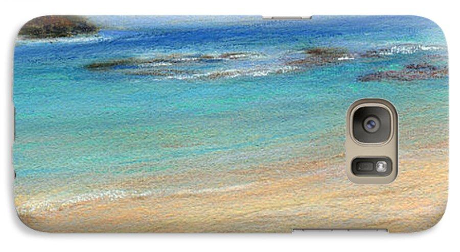 Coastal Decor Galaxy S7 Case featuring the painting Aqua Moloa'a by Kenneth Grzesik