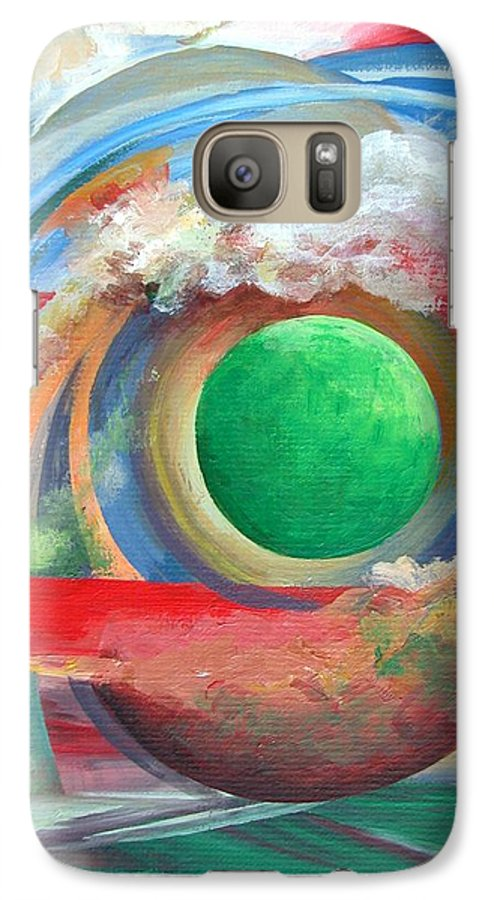 Abstract Galaxy S7 Case featuring the painting Arc by Muriel Dolemieux