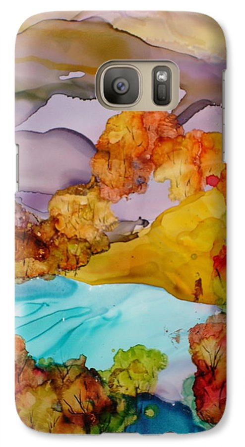 Fall Galaxy S7 Case featuring the mixed media Arcadia by Susan Kubes
