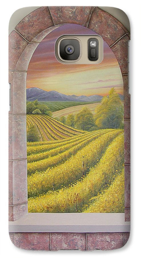 Realistic Galaxy S7 Case featuring the painting Arco Vinal by Angel Ortiz