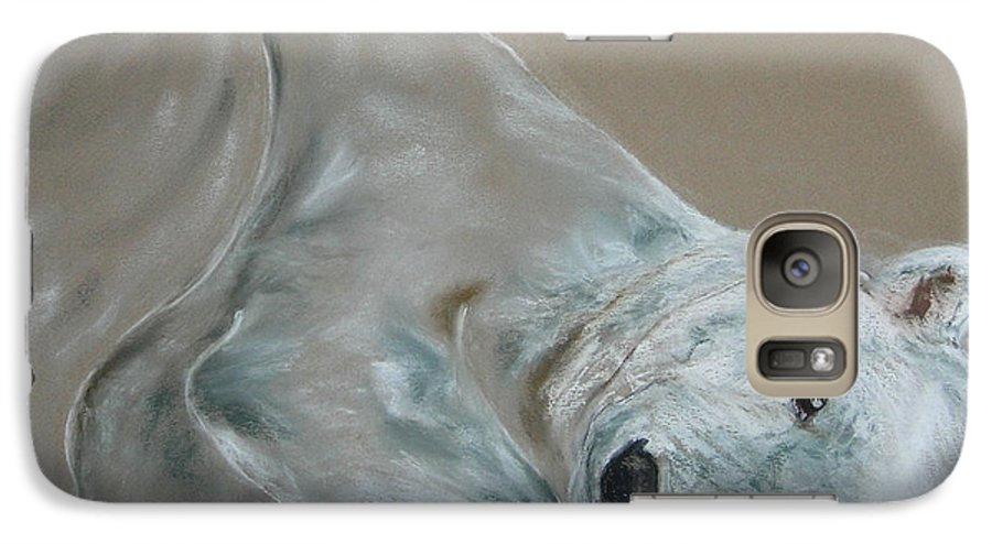 Polar Bear Galaxy S7 Case featuring the drawing Arctic Frolic by Cori Solomon
