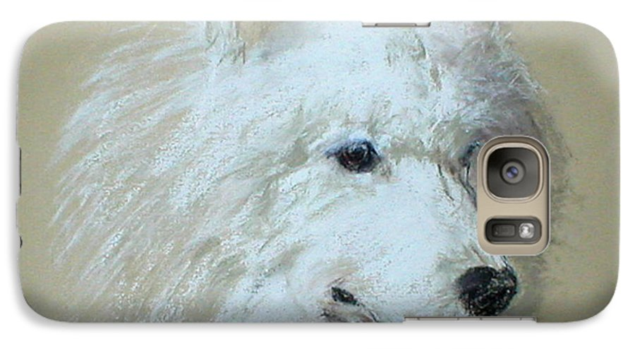 Dog Galaxy S7 Case featuring the drawing Arctic Serenity by Cori Solomon