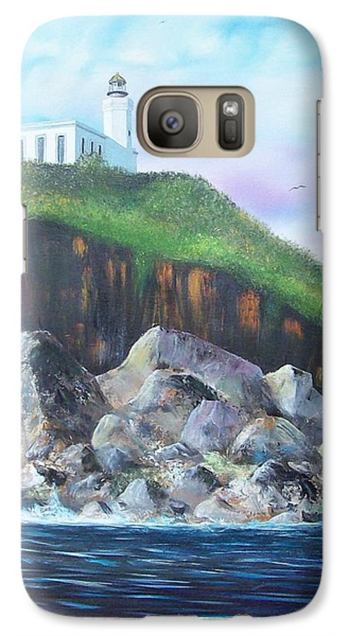 Arecibo Lighthouse Galaxy S7 Case featuring the painting Arecibo Lighthouse by Tony Rodriguez