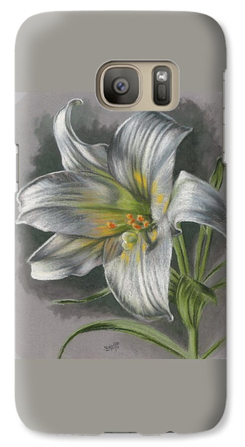 Easter Lily Galaxy S7 Case featuring the mixed media Arise by Barbara Keith