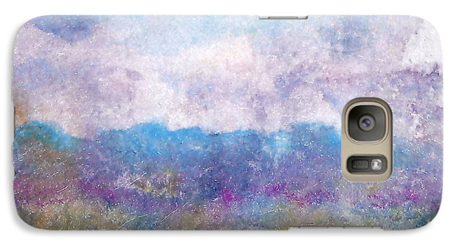 Abstract Galaxy S7 Case featuring the painting Arizona Impressions by Jan Bennicoff
