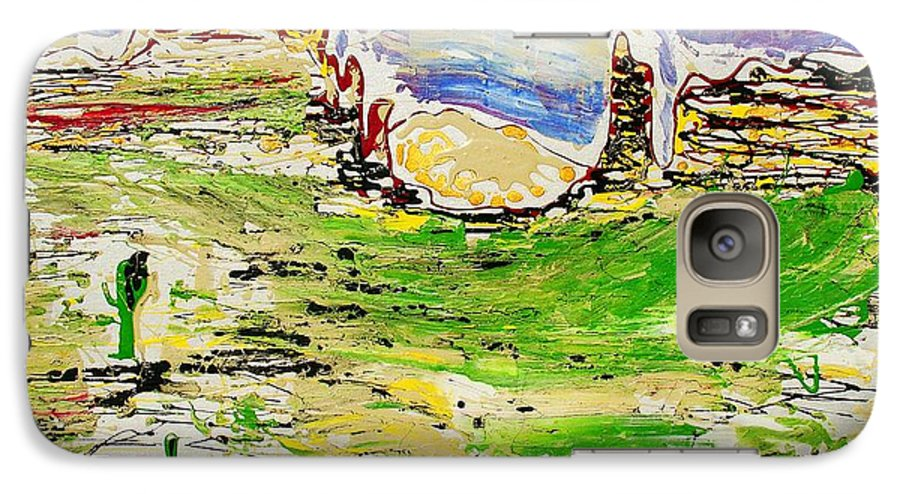 Cactus Galaxy S7 Case featuring the painting Arizona Skies by J R Seymour