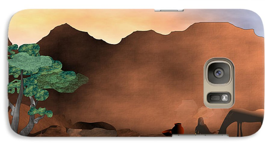Arizona Galaxy S7 Case featuring the digital art Arizona Sky by Arline Wagner