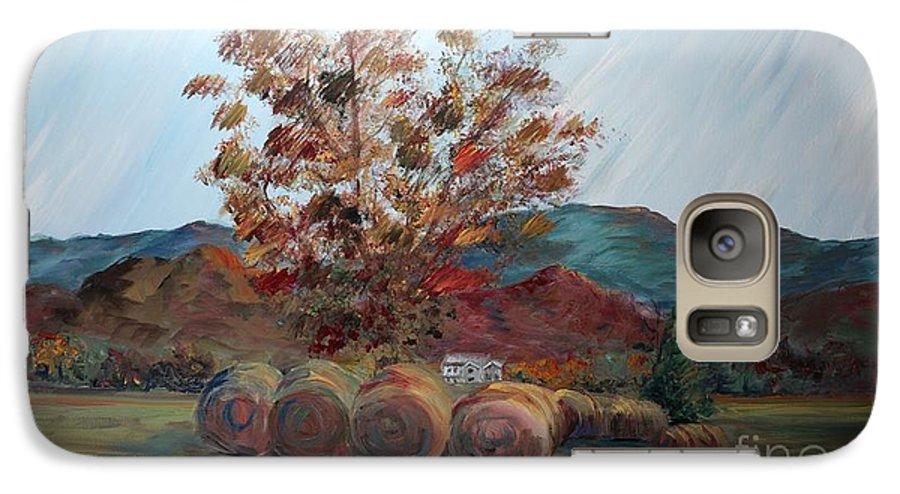 Autumn Galaxy S7 Case featuring the painting Arkansas Autumn by Nadine Rippelmeyer