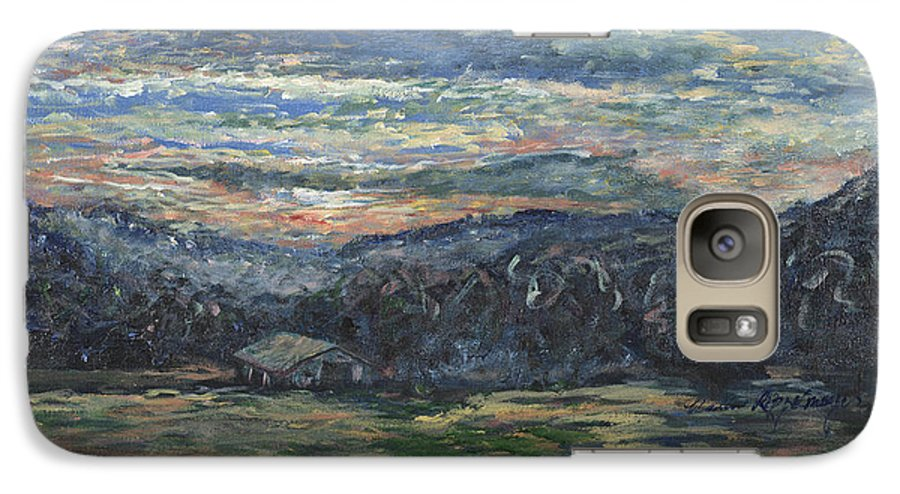 Impressionism Galaxy S7 Case featuring the painting Arkansas Sunrise by Nadine Rippelmeyer
