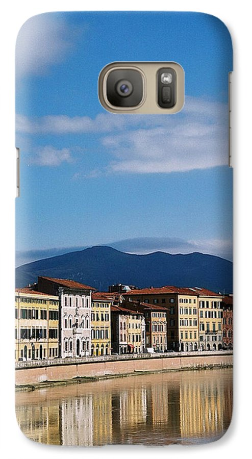 Pisa Galaxy S7 Case featuring the photograph Arno River Pisa Italy by Kathy Schumann
