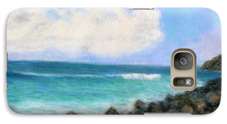 Rainbow Colors Pastel Galaxy S7 Case featuring the painting Around The Point by Kenneth Grzesik