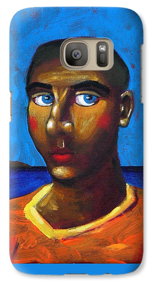 Arsonist Galaxy S7 Case featuring the painting Arsonist by Dimitris Milionis