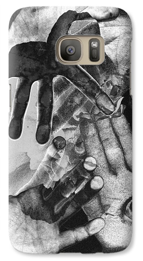 Hands Galaxy S7 Case featuring the photograph Artist's Hands by Nancy Mueller