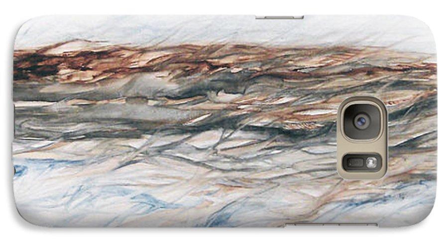 Above Air Artist As Below Blue Brown Darkest Darkestartist Earth Ground Painting Water Watercolor Galaxy S7 Case featuring the painting As Above Below by Darkest Artist