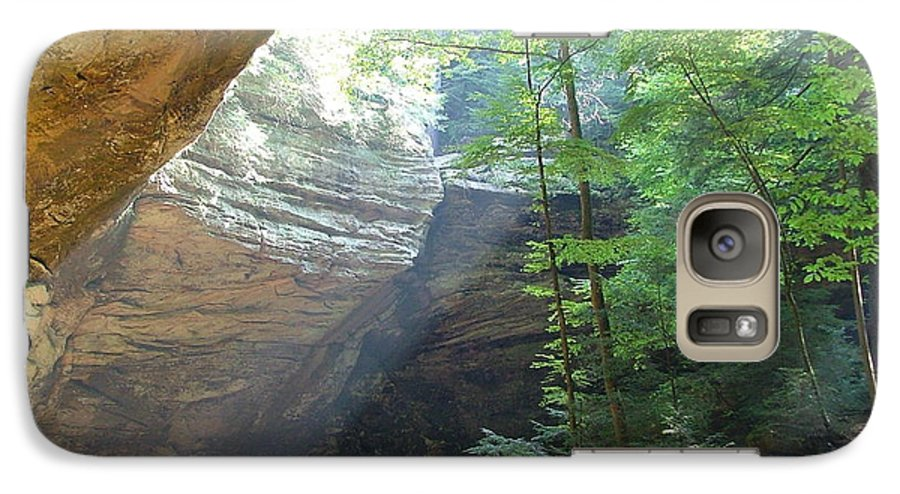 Photograph Galaxy S7 Case featuring the photograph Ash Cave by Mindy Newman