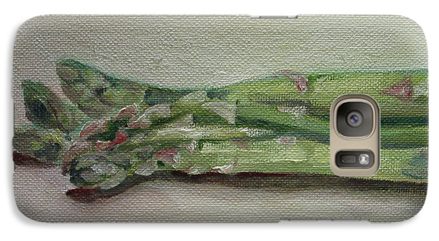 Food Galaxy S7 Case featuring the painting Asparagus by Sarah Lynch