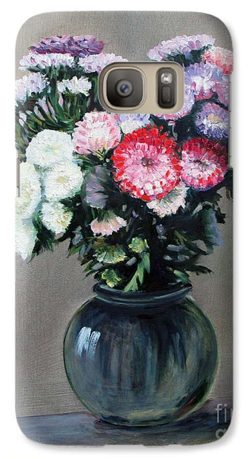 Flowers Galaxy S7 Case featuring the painting Asters by Paul Walsh