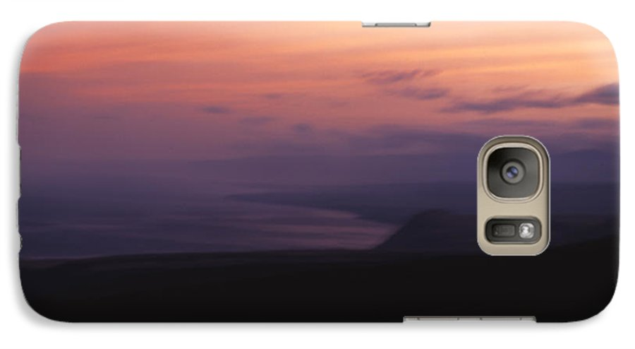 Sunset Galaxy S7 Case featuring the photograph At Sundown by Ayesha Lakes
