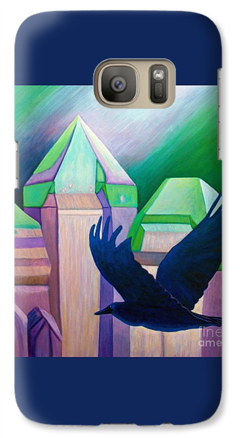 Crystals Galaxy S7 Case featuring the painting Atlantis by Brian Commerford